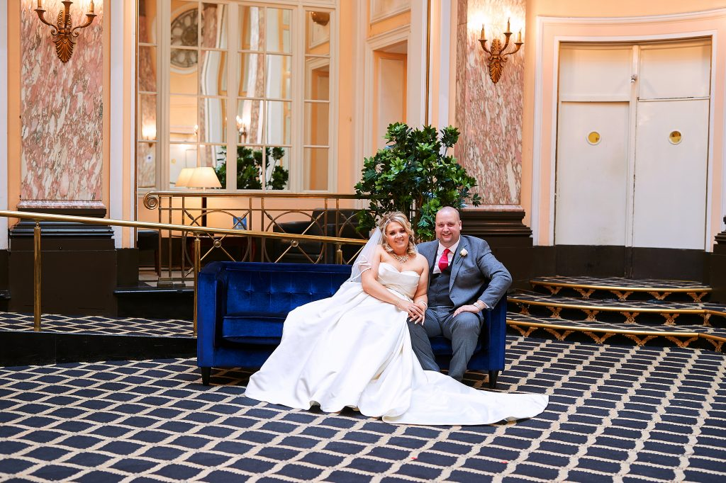 The wedding of Andy Norris and Ellie Metcalfe at The Adelphi Hotel, Liverpool