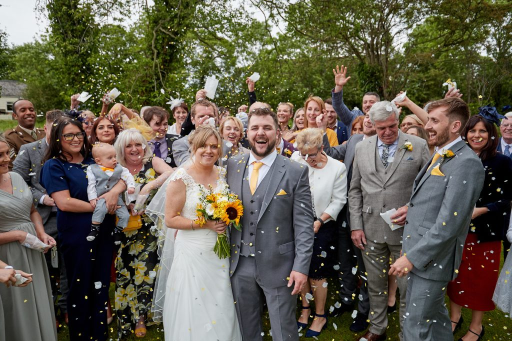 The wedding of Ben Corcoran and Nicola Hellon at Peel Hey, Frankby, Wirral